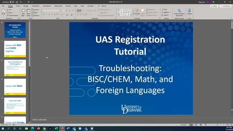 Thumbnail for entry Registration Troubleshooting 1: BISC/CHEM co-requisite, Math, and Foreign Language Issues