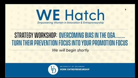 Thumbnail for entry We Hatch Professional Workshop #1 Nov 13 2020