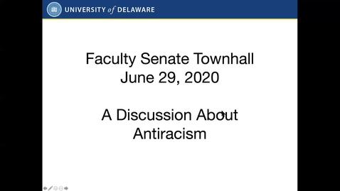 Thumbnail for entry Town Hall - Promoting the Development and Implementation of Antiracist Policies and Curricula
