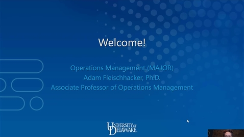 Thumbnail for entry Operations Management —Lerner College of Business and Economics