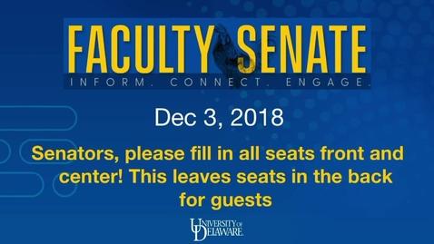 Thumbnail for entry 2018-2019/videos/Faculty Senate Meeting Dec 3rd 2018.mp4