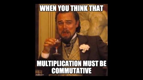 Thumbnail for entry I.8 Matrix multiplication