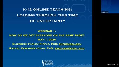 Thumbnail for entry K-12 Online Learning