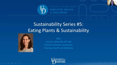 Thumbnail for entry Sustainability Series #5: Eating Plants & Sustainability