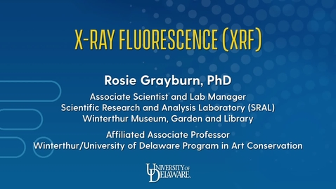 Thumbnail for entry X-Ray Fluorescence (XRF)