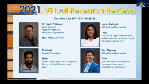 Thumbnail for entry 2021 Virtual Research Reviews - Part III: Materials in Extreme Dynamic Environments