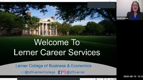 Thumbnail for entry Lerner College Career Services Graduate Orientation