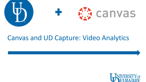 Thumbnail for entry UD Capture in Canvas: Analytics