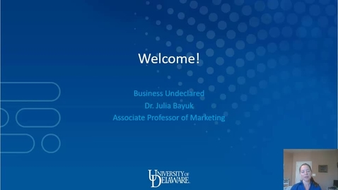 Thumbnail for entry Business Undeclared —Lerner College of Business and Economics