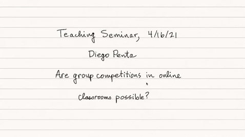 Thumbnail for entry Teaching Seminar 10 - Competitions - Diego Penta
