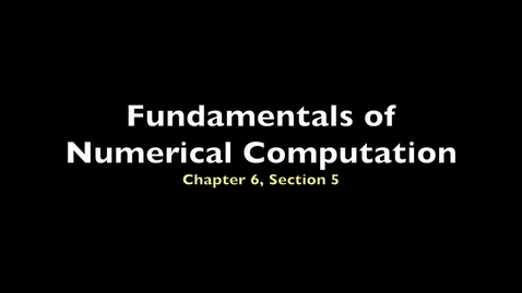 Thumbnail for entry FNC 6.5: Adaptive Runge-Kutta