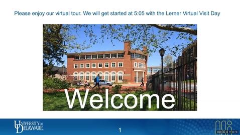 Thumbnail for entry Lerner Virtual Visit - Hospitality 9/24/2020