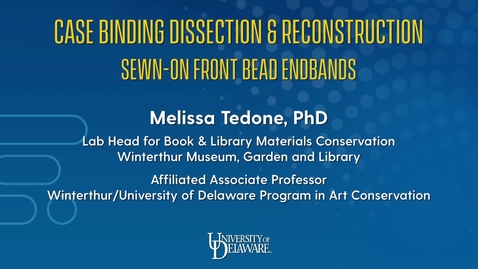 Thumbnail for entry Case Binding Dissection & Reconstruction: Sewn-on Front Bead Endbands