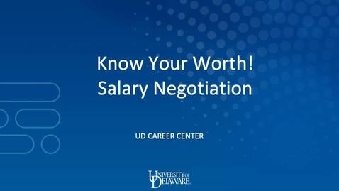 Thumbnail for entry Salary Negotiation