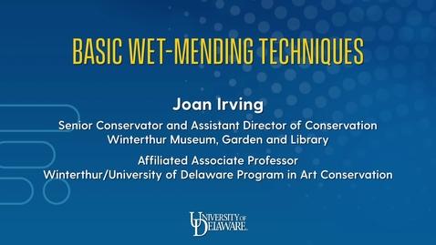 Thumbnail for entry Basic Wet Mending Techniques