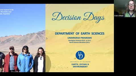 Thumbnail for entry Department of Earth Sciences —College of Earth, Ocean and Environment