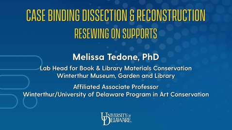 Thumbnail for entry Case Binding Dissection & Reconstruction: Resewing on Supports