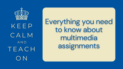 Thumbnail for entry KCTO: Everything you need to know about multimedia assignments
