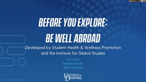 Thumbnail for entry Before You Explore: Be Well Abroad