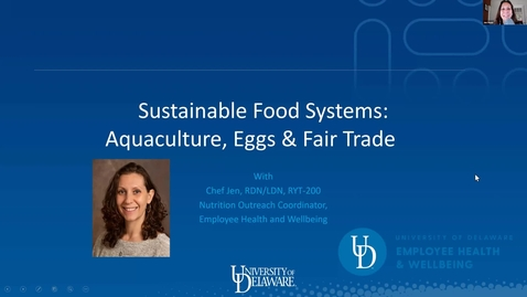 Thumbnail for entry Sustainability Series #4: Sustainable Food Systems