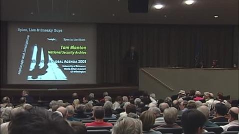 Thumbnail for entry Global Agenda_4-23-2003_Tom Blanton