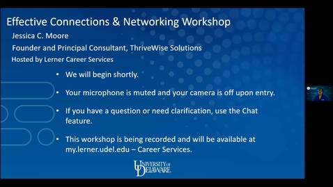 Thumbnail for entry Effective Connections and Networking