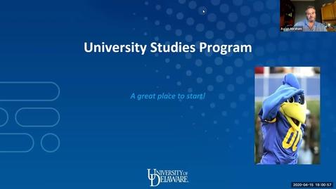 Thumbnail for entry University Studies Program — Decision Day Presentation