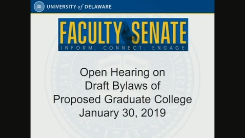Thumbnail for entry 2018-2019/videos/Open Hearing On Graduate College Bylaws Jan 30 2019.mp4