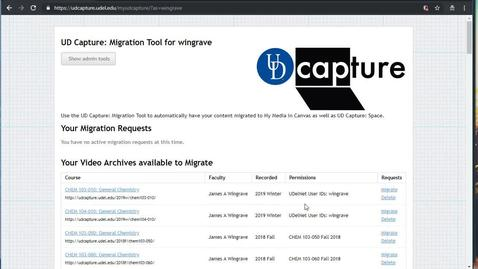 Migrating Your Older Videos to the New UD Capture Space