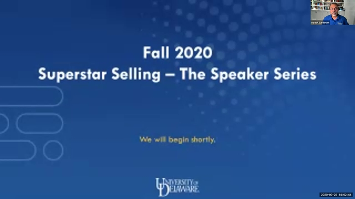 Thumbnail for channel Superstar Selling - The Speaker Series