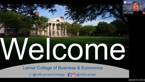 Thumbnail for entry International Business - Lerner Graduate Orientation