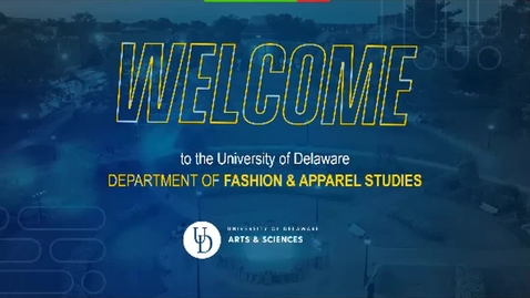 Thumbnail for entry Department of Fashion & Apparel Studies Presentation