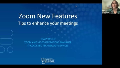 Thumbnail for entry Zoom New Features Workshop