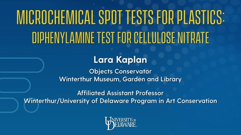 Thumbnail for entry Microchemical Spot Tests for Plastics: Diphenylamine Test for Cellulose Nitrate