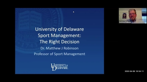 Thumbnail for entry Sport Management — Lerner College of Business and Economics