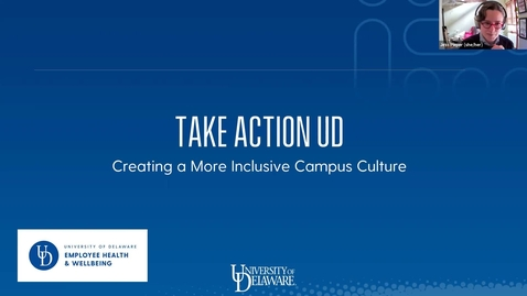 Thumbnail for entry TakeActionUD: Session 5 | Creating a More Inclusive Campus Culture