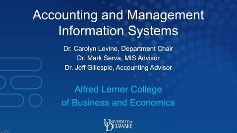 Thumbnail for entry Accounting and Management Information Systems — Lerner College of Business and Economics