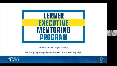 Thumbnail for entry Lerner Executive Mentoring Program Orientation