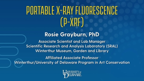Thumbnail for entry Portable X-Ray Fluorescence (p-XRF)