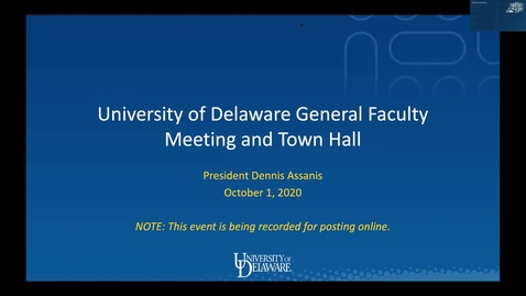 Thumbnail for entry General Faculty Meeting Oct 1st 2020