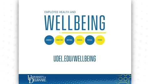 Thumbnail for entry UD Employee Health and Wellbeing - 2021 Virtual Benefits and Wellbeing Fair Informational Video