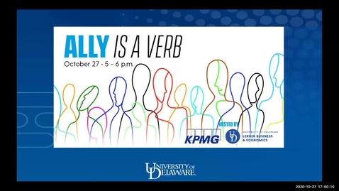 Thumbnail for entry Ally is a Verb with KPMG 10/27/2020 - Sponsored by Lerner Diversity Council