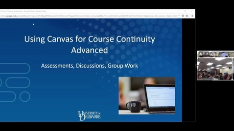 Thumbnail for entry Using Canvas (Advanced) for Course Continuity