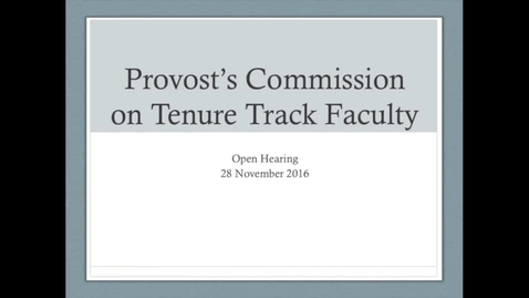 Thumbnail for entry 2016-2017/07Hearing On Discussion Of Tenure Nov 29th, 2016.mp4
