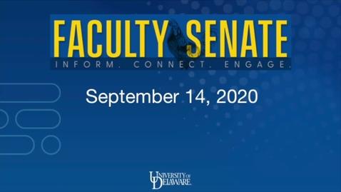 Thumbnail for entry Regular Faculty Senate Meeting September 14, 2020