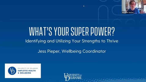 Thumbnail for entry Mental Wellbeing Boosters | What's your super power?