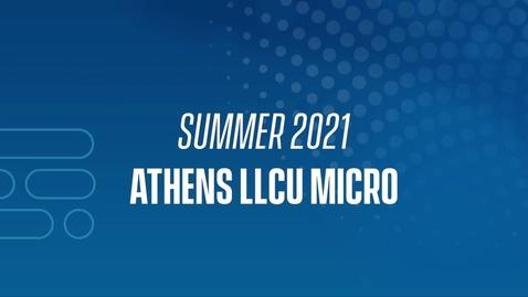 Thumbnail for entry 21J Athens LLCU Micro