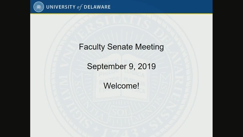 Thumbnail for entry Faculty Senate Meeting On Sept 9th 2019.mp4