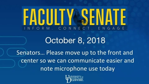 Thumbnail for entry 2018-2019/videos/Faculty Senate Meeting Oct 8th 2018.mp4