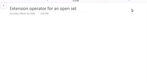 Thumbnail for entry Extension operator on open sets U